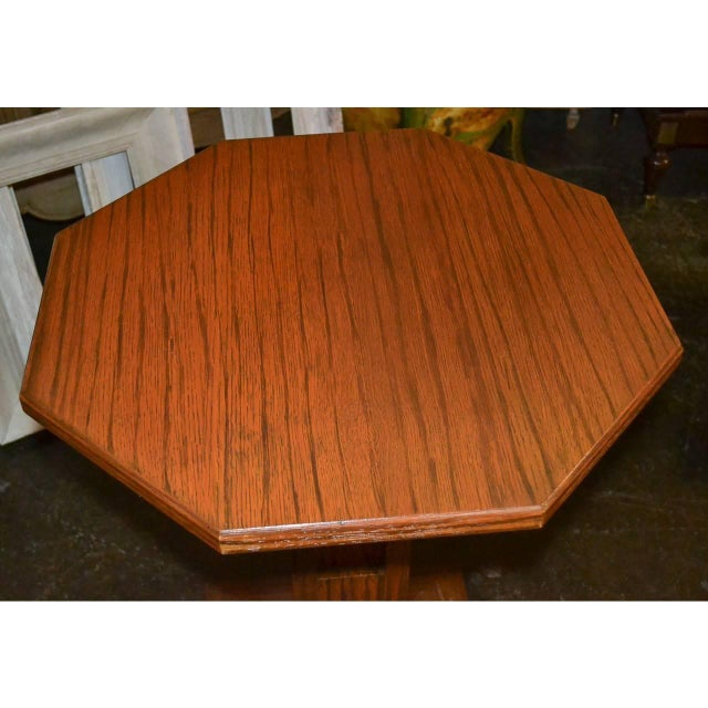 Mid-Century Modern Midcentury Tiger Oak Stand For Sale - Image 3 of 7