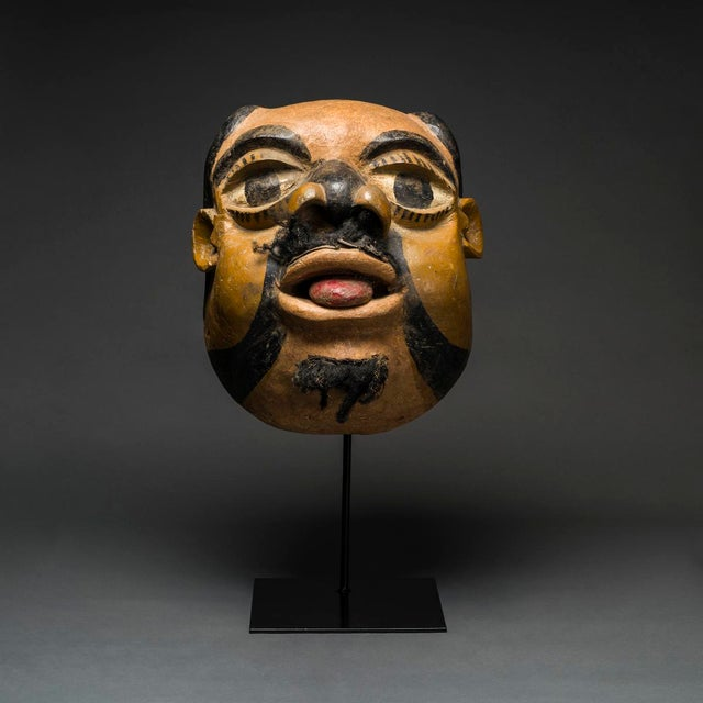 African Ibibio Wooden Polychrome Mask For Sale - Image 3 of 3