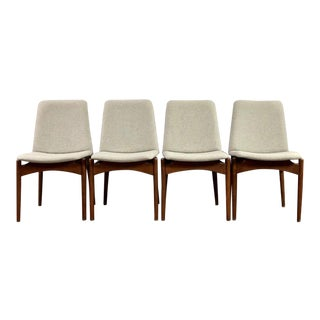 Mid Century Modern Danish Floating Dining Chairs - Set of 4 For Sale