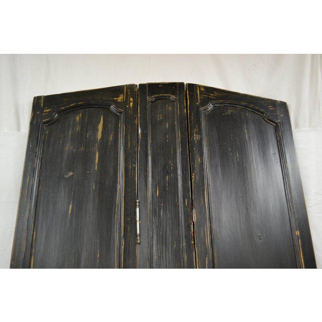 Mid 19th Century French Louis XV Style Pine Folding Screen For Sale - Image 5 of 10