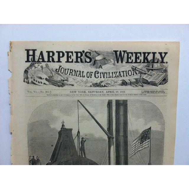"This is an Antique Harper's Weekly Print that is titled ""Shipping Artillery at Alexandria, Virginia"". The Print is dated..."