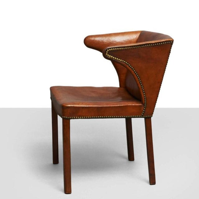 Brown Frits Henningsen Easy Chair For Sale - Image 8 of 8