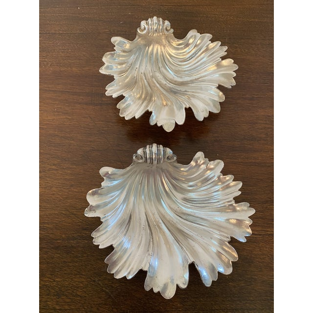 Metal Vintage Shell Form Dishes - a Pair For Sale - Image 7 of 7