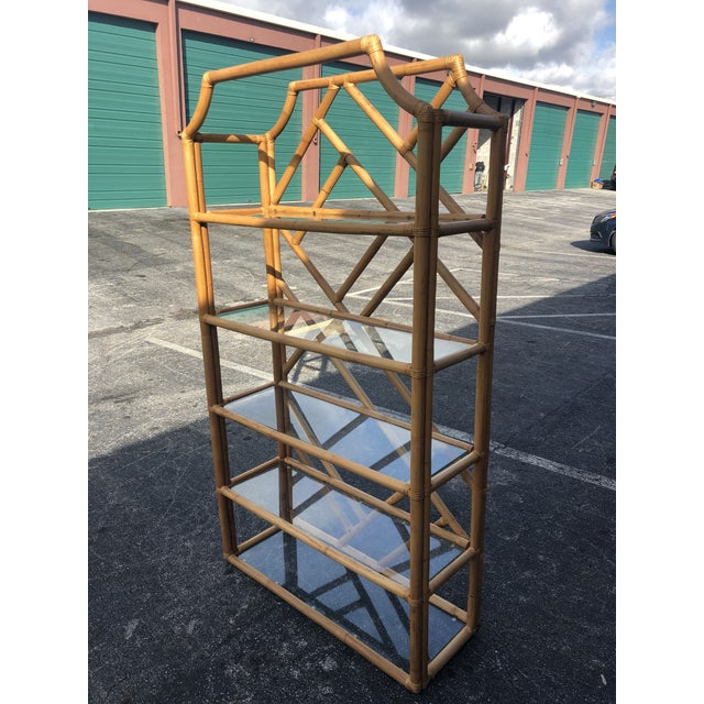 Vintage Tall Bamboo Etagere For Sale - Image 4 of 10