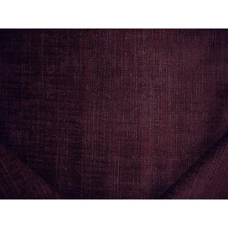 Traditional Osborne & Little Lorn Plum Textured Chenille Upholstery Fabric - 5-1/2y For Sale