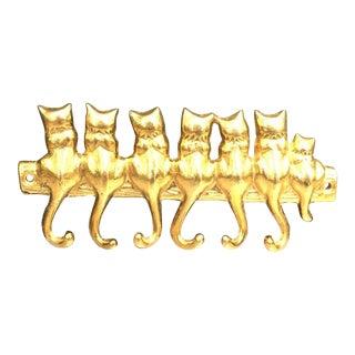 Brass Kitty Cat Wall Hook For Sale
