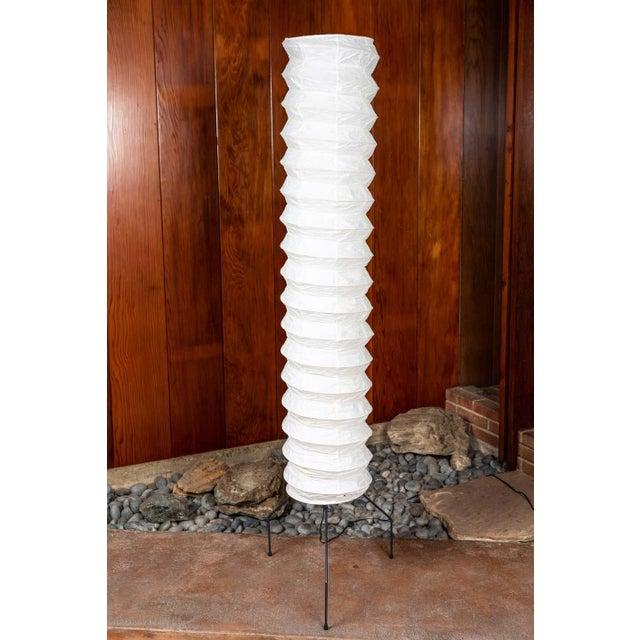 Akari Monumental Akari Model Uf4-31n Floor Lamps by Isamu Noguchi - a Pair For Sale - Image 4 of 13
