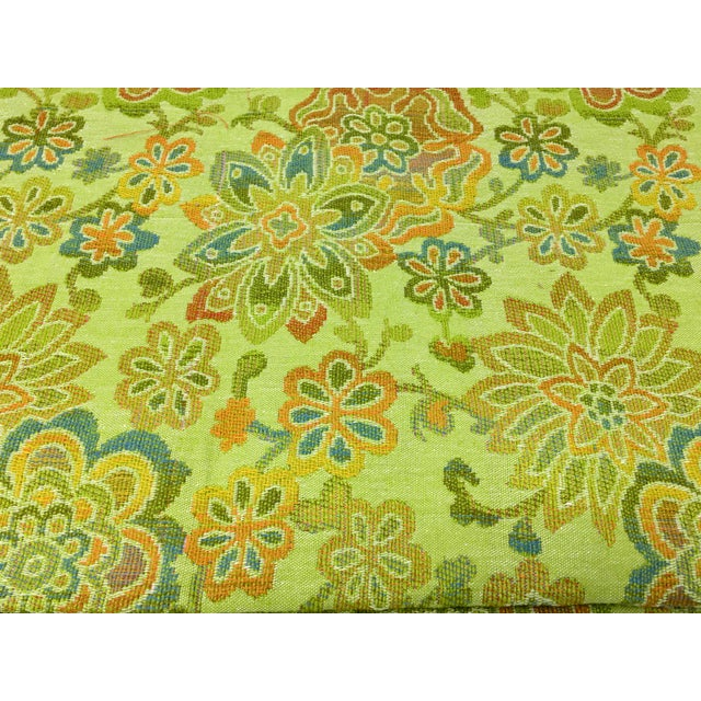 Textile Mid-Century Modern Multicolor Floral Upholstery Fabric For Sale - Image 7 of 7