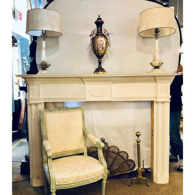 Neoclassical Neoclassical Monumental Hand Carved Fire Place Surrounds - a Pair For Sale - Image 3 of 13