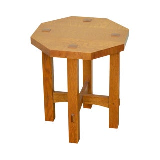 Stickley Mission Oak Collection Octagon Taboret Side Table