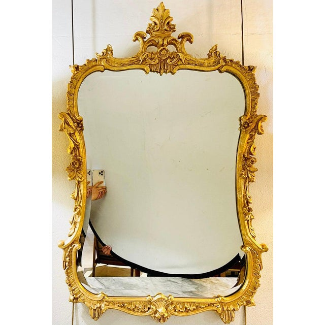 Chippendale Chippendale Fashioned Console Mirror by Friedman Bros For Sale - Image 3 of 11