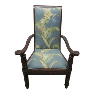 Baker Milling Road British Indies Colonial Distressed Lounge Club Chair