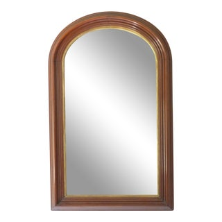 Curve Top Walnut Mirror For Sale