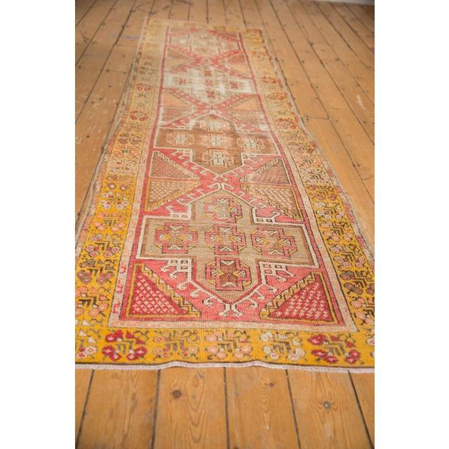 "Textile Vintage Distressed Oushak Rug Runner - 2'11"" X 9'5"" For Sale - Image 7 of 7"