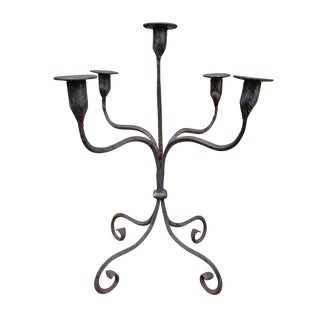 Early 20th Century American Iron Candelabra For Sale