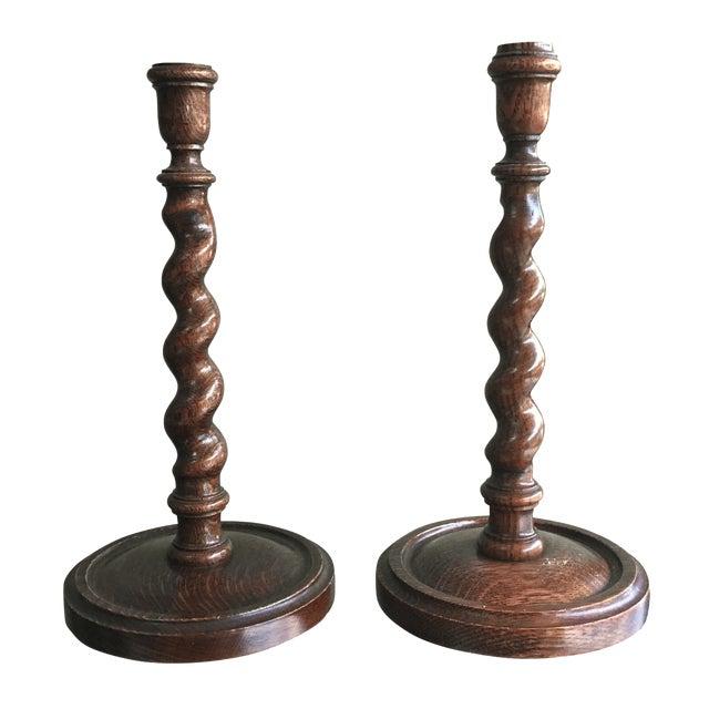 Barley Twist Candlesticks - A Pair - Image 1 of 5