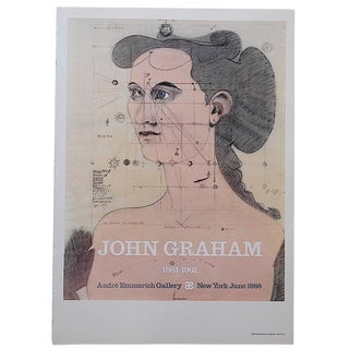 Vintage Poster Lithograph-John Graham For Sale