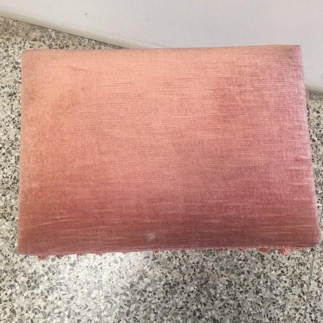 Jansen Style Rusty Pink Footstool - Image 5 of 8