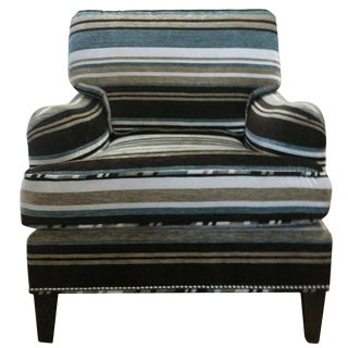 Art Deco Lounge Chair With Mohair Upholstery For Sale