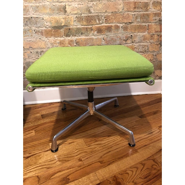 Eames Herman Miller Eames Neon Green Pad Lounge Chairs With Ottoman - a Pair For Sale - Image 4 of 8