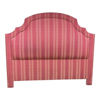 Custom King Sized Upholstered Headboard For Sale