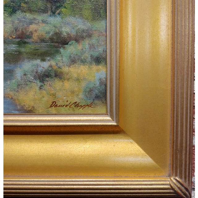 David Chapple -View of the Owens Valley - Oil Painting For Sale - Image 4 of 7
