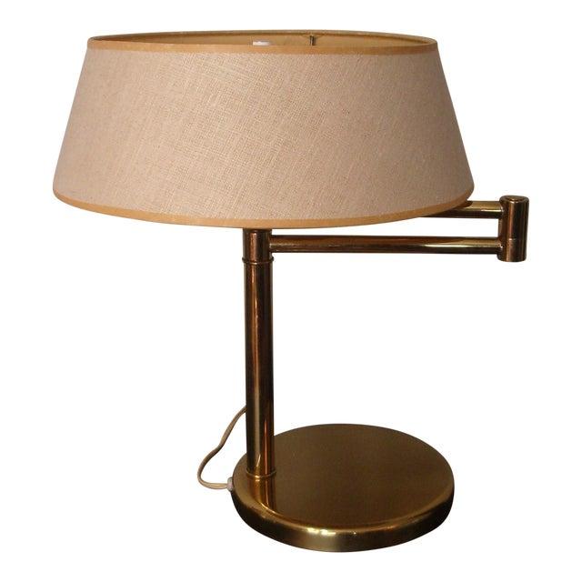 1960s Mid Century Modern Walter Von Nessen for Nessen Lighting Swing Arm Desk Lamp For Sale