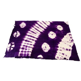 Magenta, Blue, Violet & White Mud-Cloth Textile For Sale