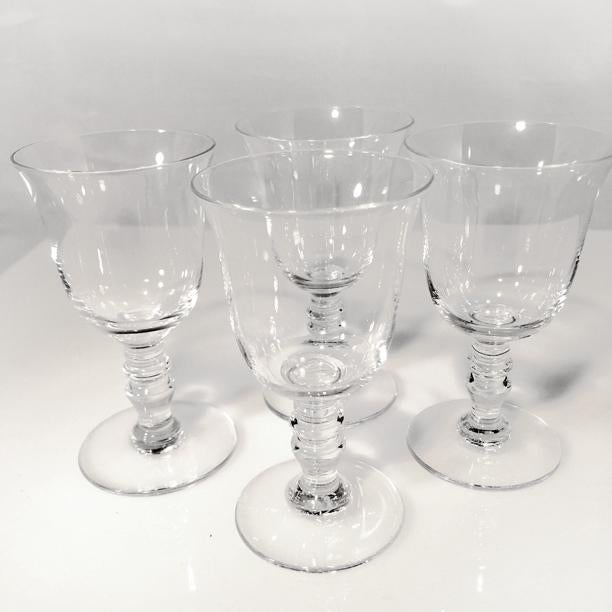 Four vintage Baccarat crystal Provence cordial glasses are offered here in excellent condition. A great wedding,...