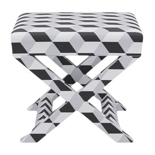 X Bench in Black Cube For Sale