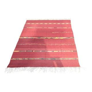 Geometric Zapotec Wool Area Rug - 9′ × 12′