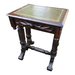 English Oak Aesthetic Movement Writing Table, 19th Century For Sale