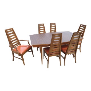 Young Manufacturing Co. Mid-Century Modern Dining Table & Chairs - Set of 7