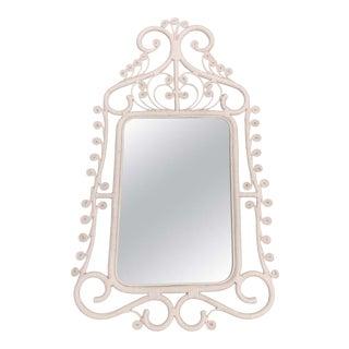 Mid Century Boho Wicker Mirror For Sale