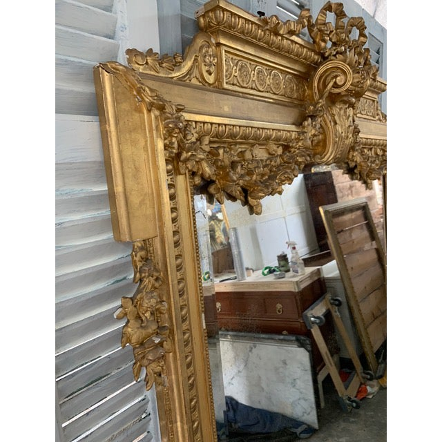 French 18th Century French Louis XVI Period Mirror For Sale - Image 3 of 10