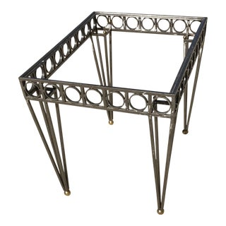 Wrought Iron Glass Top Deco Style Center Table