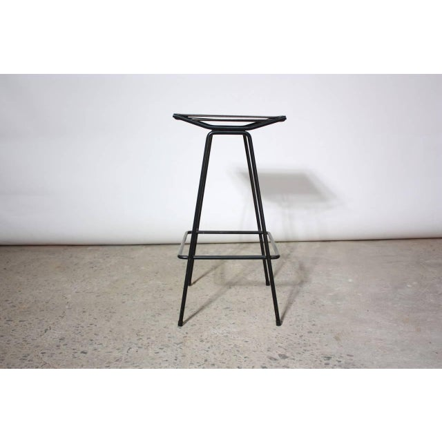 Set of Four Allan Gould Iron and Rope Stools - Image 7 of 10