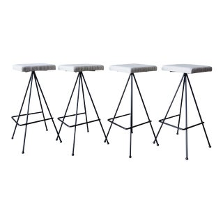 Iron Bar Stools - Set of 4