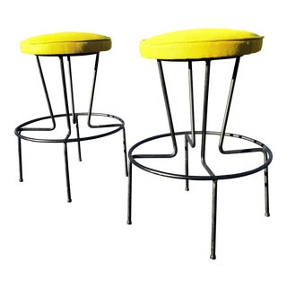 1960s Frederick Weinberg Counter Stools-a Pair For Sale