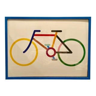 2007 Framed Modern Art Basal Bicycle Print For Sale