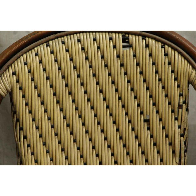 Traditional Wicker & Wood Frame Chair For Sale - Image 3 of 7