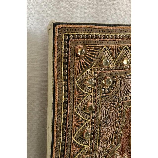 Stone Vintage Burmese Kalaga Dancer Tapestry For Sale - Image 7 of 10