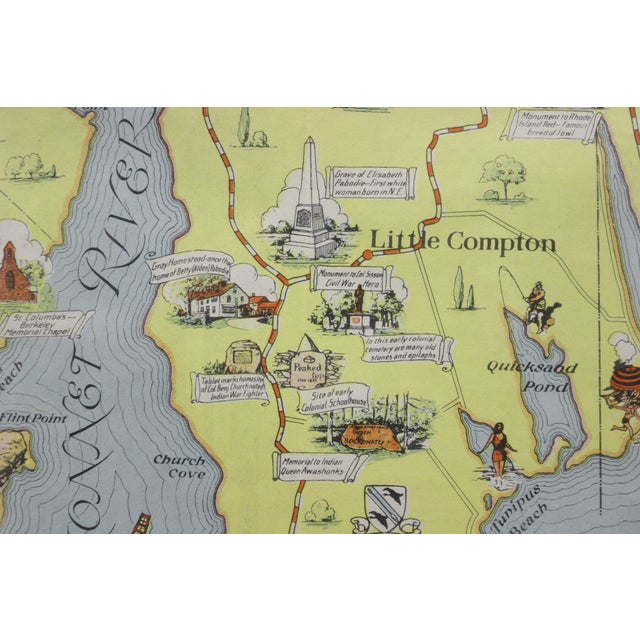 Rhode Island Map, 1933 For Sale In New York - Image 6 of 7