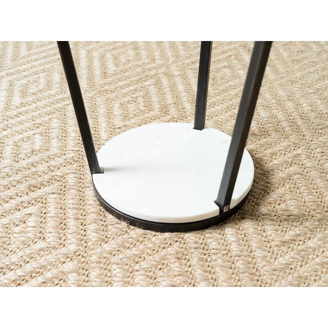 Modern Patrice White Marble Top Side Table For Sale - Image 4 of 5
