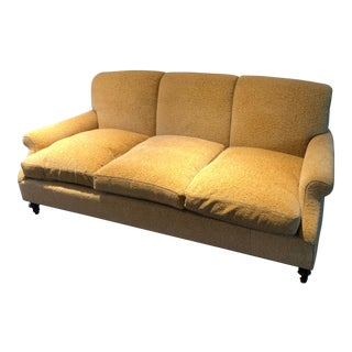 Gold Chenille Sofa For Sale