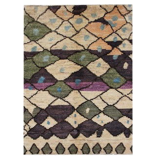 "Aara Rugs Inc. Moroccan Modern Hand Knotted Rug - 3'2"" X 4'8"" For Sale"