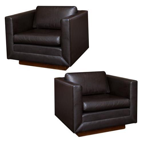 Gunlocke Vintage Leather Club Chairs - Pair  sc 1 st  Chairish & Gunlocke Vintage Leather Club Chairs - Pair | Chairish