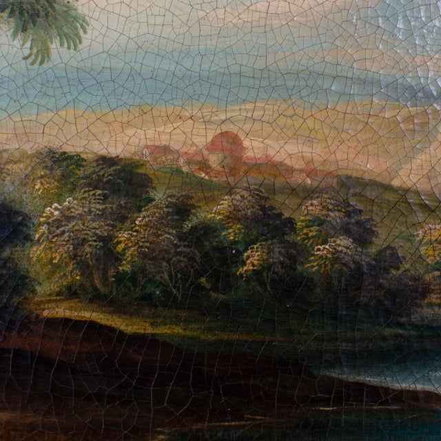 Early 20th Century Antique Buson Italianate Landscape Painting For Sale - Image 4 of 10