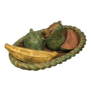 Molded Clay Fruit Bowl - Set of 5
