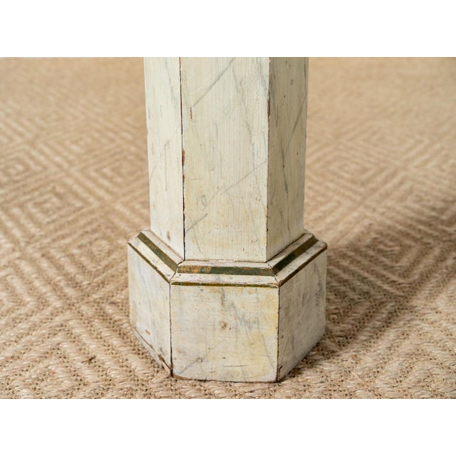 1940s Vintage Six Sided Wooden Column For Sale - Image 5 of 6